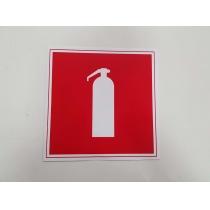 "Знак пожарный ""Огнетушитель"" (размер 150х150 мм, пластик ПВХ 1 мм)"