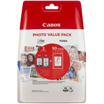 Картридж струйный CANON PG-46/CL-56 PHOTO VALUE PACK, для E404, E204, E304, ориг