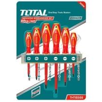 Набір TOTAL  THTIS566 викруток електрика Sl, Ph, 6шт.
