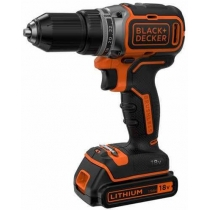 Шуруповерт BLACK&DECKER  BL186KB, бесщет, 18V, 52Нм, Li-Ion, 2ак.
