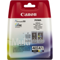 Картридж Canon для Pixma iP-1600/2200/MP-150/170/450 PG-40/CL-41 Black/Color (0615B043) Multipack