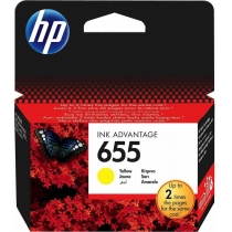 Картридж HP для DJ Ink Advantage 3525/4615/4625 HP 655 Yellow (CZ112AE)