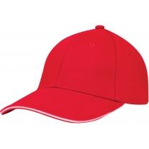 Кепка 6-и панельная OPTIMA PROMO GOLF, красная