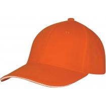 Кепка 6-и панельная OPTIMA PROMO GOLF, оранжевая
