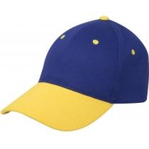 Кепка 6-и панельная OPTIMA PROMO COMBI, желто-синяя
