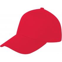Кепка 5-и панельная OPTIMA PROMO POLO, красная