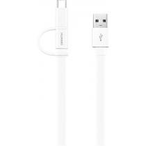 Кабель HUAWEI AP55S Micro-USB + USB-C 2-in-1 (White)