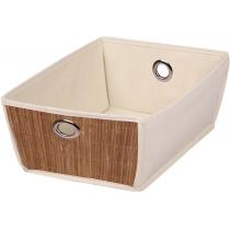 Коробка для хранения вещей бежевая (36 - 32) х (25 - 21) х 13 см Мой Дом