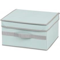 Коробка для хранения вещей с крышкой голубая 30 х 25 х 17 см Мой Дом
