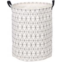 Корзина для белья круглая тканевая цвет белый меланж 40 х 50 см Мой Дом