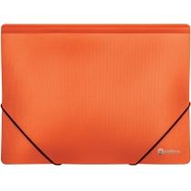 Папка пластиковая А4 на резинках Optima двухцветная, оранжевая