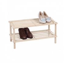 Полка для взуття МД дерев'яна розбірна 2 рівня 60 х 25 х 50,7 см