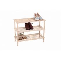 Полка для взуття МД дерев'яна розбірна 3 рівня 60 х 25,6 х 50,7 см