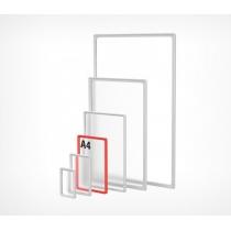 Пластиковая рамка для плакатов и рекламных вставок , А4, цвет Красный, 10 шт.