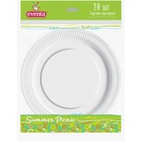 Тарелки бумажные EVENTA D 18 см белые 20 шт