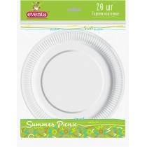Тарелки бумажные EVENTA D 23 см белые 20 шт
