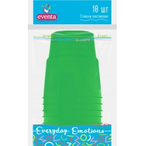 Стаканы пластиковые EVENTA PS Кристалл 180 мл зеленые 10 шт