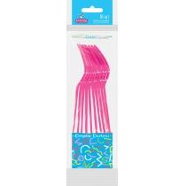 Вилки пластиковые EVENTA PS розовые 10 шт