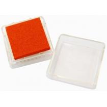 Штемпельная подушка с пигментным чернилом, Оранжевая, 2,5*2,5см