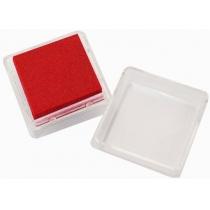 Штемпельная подушка с пигментным чернилом, Красная, 2,5*2,5см