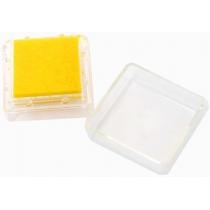 Штемпельная подушка с пигментным чернилом, Желтая, 2,5*2,5см