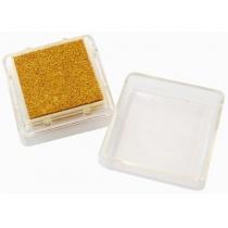 Штемпельная подушка с пигментным чернилом, Золотая, 2,5*2,5см