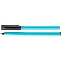 Ручка шариковая OPTIMA HYPE 0,7 mm. Корпус голубой, пише чорним