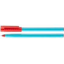 Ручка шариковая OPTIMA HYPE 0,7 mm. Корпус голубой, пише червоним