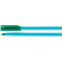 Ручка шариковая OPTIMA HYPE 0,7 mm. Корпус голубой, пише зеленим