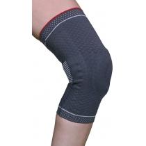 Бандаж для коленного сустава 3D вязка (с силиконовым кольцом и спиральными металлическими ребрами же