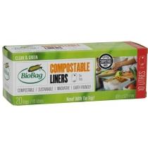 Биопакеты 10 л, 20 шт., Пакет в коробке, 42х54 см