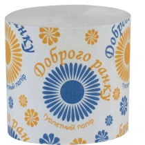 Туалетная бумага 1 слой ДОБРОГО РАНКУ 85 х 90 мм