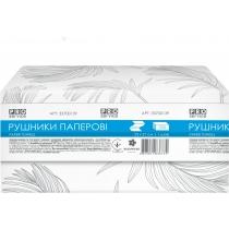 Полотенце бумажное 1 слой PRO service Standard V-сложения 250 шт белый