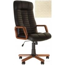 Кресло, ATLANT EX Tilt, Экокожа, бежевый, с дерев. наклад. и подлокот.