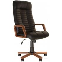 Кресло, ATLANT EX Tilt, Экокожа, черный, с дерев. наклад. и подлокот.
