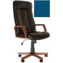 Кресло, ATLANT EX Tilt, Кожа LUX, синий, с дерев. наклад. и подлокот.