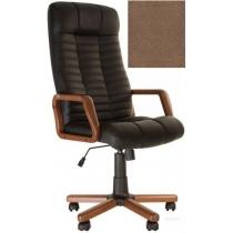 Кресло, ATLANT EX Tilt, Кожа SPLIT, коричневый, с дерев. наклад. и подлокот.
