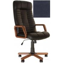 Кресло, ATLANT EX Tilt, Кожа SPLIT, синий, с дерев. наклад. и подлокот.