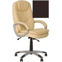 Кресло, BONN KD Anyfix PL35, Экокожа, коричневый, пласт. база, пласт. подлок. с мягким наклад.