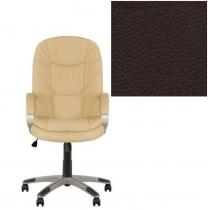 Кресло, BONN KD Tilt PL35, Экокожа, коричневый, пласт. база, пласт. подлок. с мягким наклад.