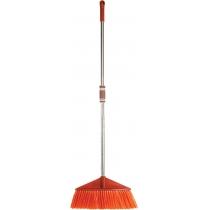 Метла универсальная Optima cleaning с хромированной ручкой 115 см (рыжая)