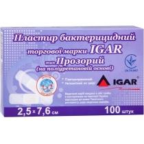 Пластырь бактер. ТМ IGAR тип Прозрачный (на полиуретановой основе) 2,5х7,6 см , 100 шт.