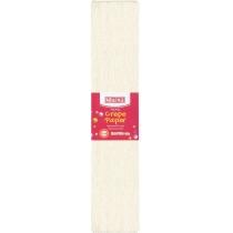 Папір гофрований перламутровий 20%, 50х200см, білий