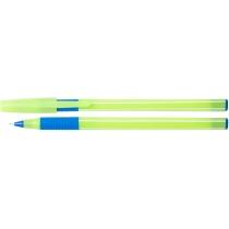 Ручка масляная ECONOMIX  DREAM 0,7 мм, корпус зеленый пише синім