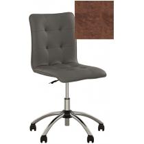 Кресло MALTA GTS CHROME ECO-21, Экокожа ECO, коричневый, Хром база