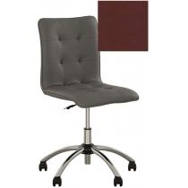 Кресло MALTA GTS CHROME ECO-28, Экокожа ECO, бордовый, Хром база