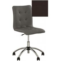 Кресло MALTA GTS CHROME ECO-31, Экокожа ECO, коричневый, Хром база
