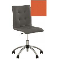 Кресло MALTA GTS CHROME ECO-72, Экокожа ECO, оранжевый, Хром база