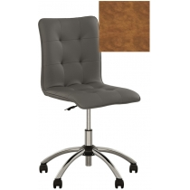 Кресло MALTA GTS CHROME ECO-13, Экокожа ECO, коричневый, Хром база