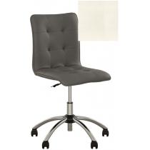 Кресло MALTA GTS CHROME ECO-50, Экокожа ECO, белый, Хром база